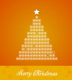 Christmas tree  from dots. Stock Photos
