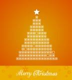 Christmas tree  from dots. Stock Photos