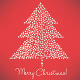 Christmas tree of dots elegant Royalty Free Stock Photos