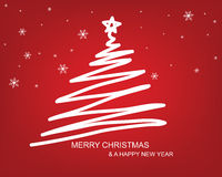 Christmas tree draw background Royalty Free Stock Photography