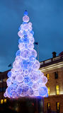 Christmas tree in Dublin city - Ireland Royalty Free Stock Image