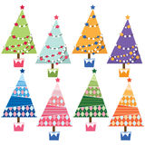 Christmas Tree Elements. A Vector Illustration of Christmas Tree Elements Stock Photo