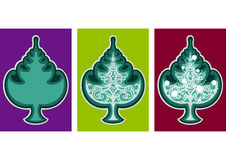 Christmas tree emblem Stock Photography