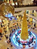 Christmas tree in Emirates mall Dubai Stock Photos