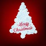 Christmas tree. EPS 10 Royalty Free Stock Photo