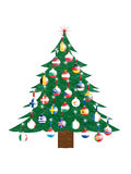 Christmas tree - European Union. Christmas tree with Christmas balls in the colors of the countrys of the European Union Stock Image