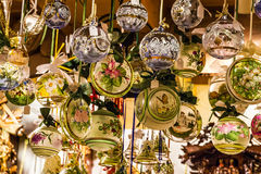 Christmas tree exclusive glass decoration in Munich shop Royalty Free Stock Images