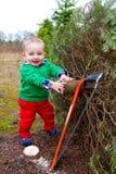 Christmas Tree Farm Portraits Royalty Free Stock Photography
