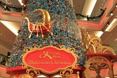 Christmas tree at Festival Walk mall at 2010. The christmas tree at Festival Walk mall at 2010 Stock Images
