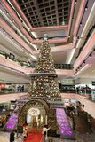 Christmas tree in Festival Walk mall at 2017. Christmas tree in Festival Walk mall in Kowloon Tong Royalty Free Stock Images