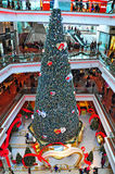 Christmas tree festival walk mall, hong kong Stock Photography
