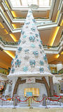 Christmas tree at festival walk mall, hong kong. Huge artificial snow and decorative ornaments covered christmas tree at the festival walk shopping mall at Stock Images
