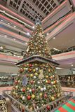 Christmas tree in Festival Walk mall at 2017. Christmas tree in Festival Walk mall in Kowloon Tong Stock Photos