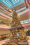 Christmas tree in Festival Walk mall in Kowloon Tong 2018. Christmas tree in Festival Walk mall in Kowloon Tong on Stock Photo