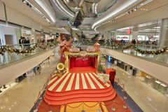 Christmas tree in Festival Walk mall at 2017. Christmas tree in Festival Walk mall in Kowloon Tong Royalty Free Stock Photos