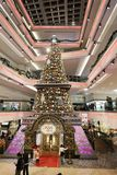 Christmas tree in Festival Walk mall at 2017. Christmas tree in Festival Walk mall in Kowloon Tong Stock Photography