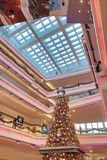 Christmas tree in Festival Walk mall in Kowloon Tong 2018. Christmas tree in Festival Walk mall in Kowloon Tong on Stock Images