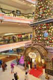 Christmas tree in Festival Walk mall in Kowloon Tong 2018. Christmas tree in Festival Walk mall in Kowloon Tong on Stock Image