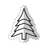 Christmas tree festive cut line Royalty Free Stock Image