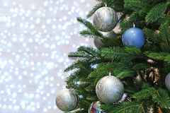 Christmas tree with festive decor stock image