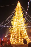 Christmas tree and festive fair Stock Image