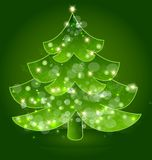 Christmas tree festive vector icon. Design illustration Royalty Free Stock Images