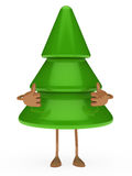 Christmas tree figure thumbs up Royalty Free Stock Photos