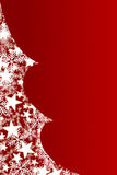 Christmas tree filled with snowflakes and stars royalty free illustration