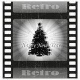 Christmas tree. On film - vector Stock Photo