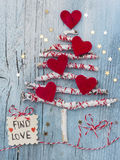 Christmas Tree. With FIND LOVE wish as a gift Stock Image