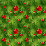 Christmas tree fir branch seamless background. Vector illustration EPS 10 Royalty Free Stock Images