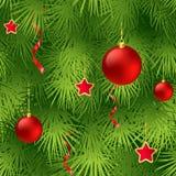 Christmas tree fir branch seamless background. Vector illustration EPS 10 Stock Photos