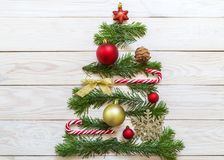 Image with a Christmas tree Royalty Free Stock Photography