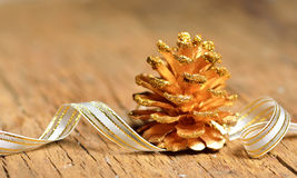Christmas tree of fir cone Royalty Free Stock Images