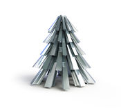 Christmas tree .fir tree metal Royalty Free Stock Image
