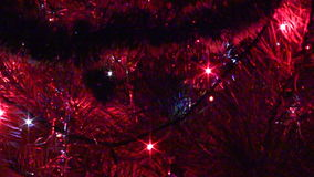 Christmas tree flashing garlands stock footage