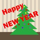 Christmas tree. Flat design,  illustration Royalty Free Stock Image
