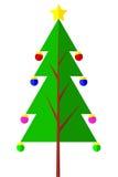 Christmas Tree - Flat Icon. Vector Christmas Tree - Flat Icon n Stock Photos