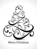 Christmas tree Floral backgorund Royalty Free Stock Images