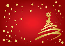 Christmas Tree Flourish Royalty Free Stock Image