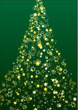 Christmas tree flower. Vector illustration of a shining christmas tree with stars as flower Royalty Free Stock Photos