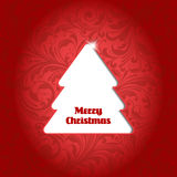 Christmas tree in flower background Royalty Free Stock Photo