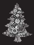 Christmas Tree of flowers Stock Photo