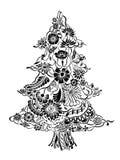 Christmas Tree of flowers Royalty Free Stock Photo