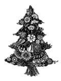 Christmas Tree of flowers Stock Photos