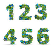 Christmas tree font Royalty Free Stock Photography
