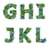 Christmas tree font Royalty Free Stock Images