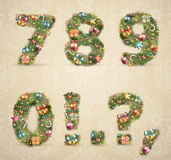 Christmas Tree Font With Baubles Royalty Free Stock Photo
