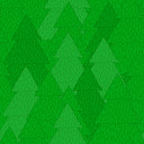 Christmas tree forest pattern Royalty Free Stock Photography