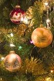 Christmas tree fragment stock photo